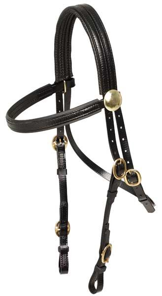 Race Day PVC Bridle with Brass Buckles